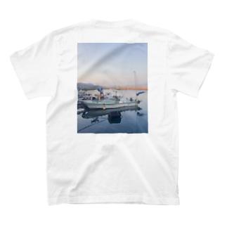 ぱんちゃりんちゃの夕凪 バックプリント T-shirts