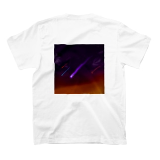 Into a vacant sky. バックプリント T-shirts