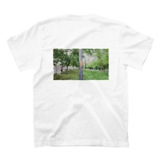 ヒトシオムSHOPのスペインリボン落書きフォト T-shirts