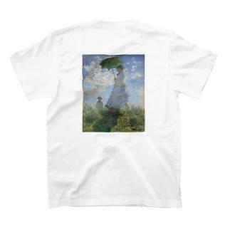 クロード・モネ 日傘をさす女 T-shirts