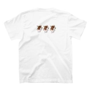 おすわり三連 T-shirts