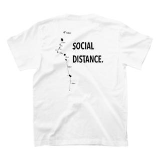 伊豆諸島SOCIAL DISTANCE Tシャツ T-shirts