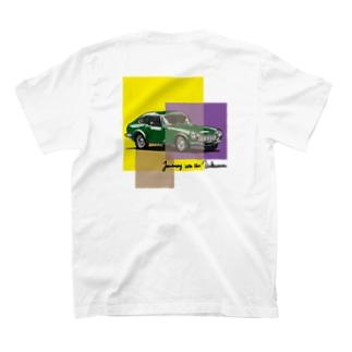 レトロカーTシャツ グリーン T-shirts