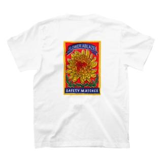 レトロマッチ箱 燃える菊 T-shirts