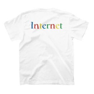 バックプリントのインターネット T-shirts