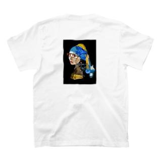 フェルメール コラージュバックプリントTシャツ T-shirts