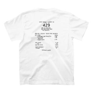 レシートTシャツ T-shirts