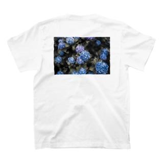 Hydrangea 紫陽花T blue T-shirts