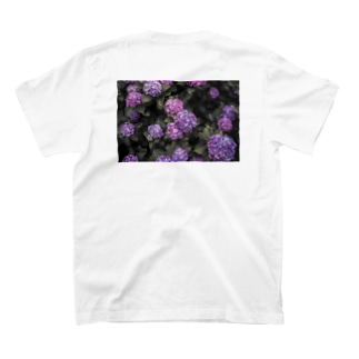 Hydrangea 紫陽花T purple T-shirts