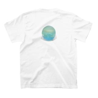 あおまる(背) T-shirts