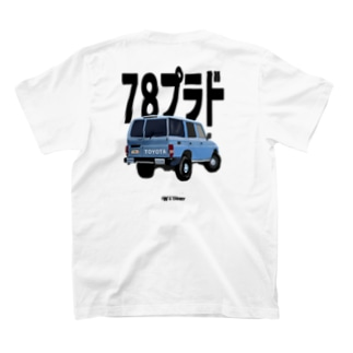 tw_and_cherryの<バックプリント>ランクル 78プラド T-Shirt