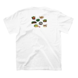 佐良miyu☃の居酒屋メニュー8種セット(丸形並び) T-shirtsの裏面