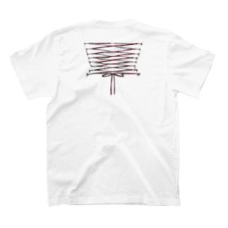 コルセット包帯止め T-shirts