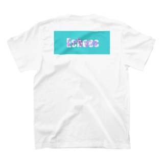 爽やかロゴのサンダル mint×pink T-shirts