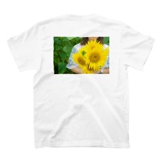 ひまわり畑 T-shirt(back) T-shirts