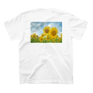 ひまわり畑の、恋(back) T-shirts