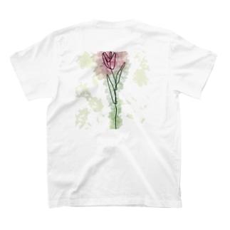一輪のチューリップ(色付きver.) T-shirts