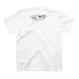 じろっと三白眼ちゃん T-shirts