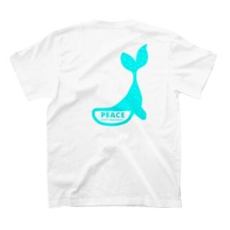 PEACE★クジラ🐳 T-shirts