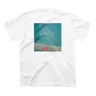 POOLであそびたい(ワンポイント・背面プリント) T-shirts