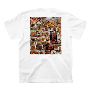 みんな大好き!焼きまんじゅう(背面) T-shirts