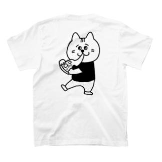 【背面/ロゴなし】ビアキチくん(ピザ) T-shirts
