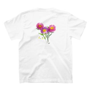 花と女子 ももいろのはな T-shirts