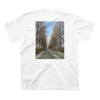 メタセコイヤ並木 T-shirts