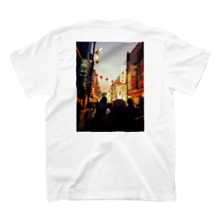 Chinatown夜景フォトグッズ T-shirts