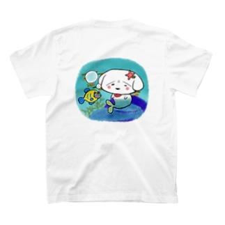 まめだいふくともなかTシャツ(人魚) T-shirts