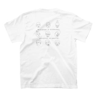 みんな違ってみんないい2(背中) T-shirts
