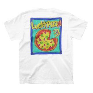 ラッキーピッザ3▹▸バックプリントVer. T-shirts