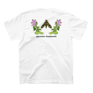 夾竹桃雀蛾(イモムシあり) T-shirts