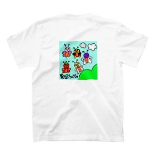 異国蝶々 背面 T-shirts