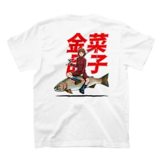 プアースタイルバックプリント付き T-shirts