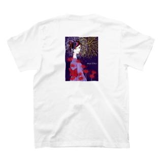 彼岸花火 バックプリント T-shirts