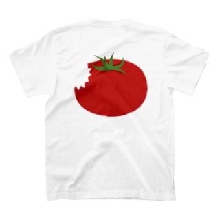 食べかけのトマト T-shirts