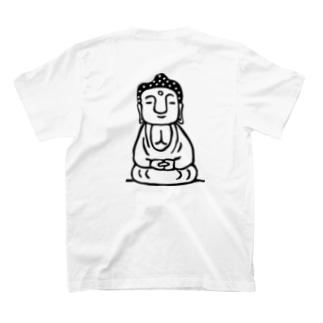 大仏ちゃん【バックにドドンとプリント】 T-shirts