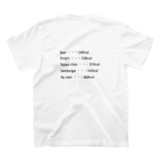 カロリータイポグラフィTシャツ T-shirts