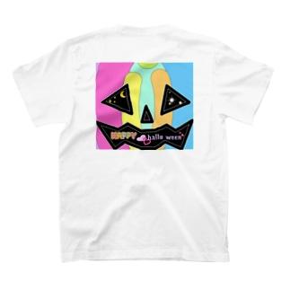 虹色 カボチャ パンプキン ハッピーハロウィーン Happy hallo ween T-shirts