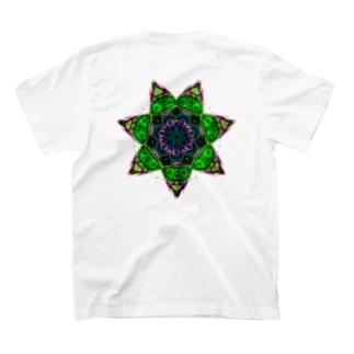 サイケデリック 逆さ七芒星 T-shirts