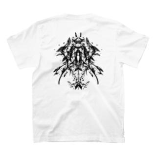 フラグメント(背面印刷) T-shirts