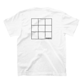 nanometerのnanometerスクエアTシャツ T-shirtsの裏面