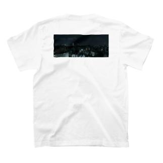 TENRIVER_FILM 応援グッズ 夜の街 背面プリント 前面ロゴ T-shirts