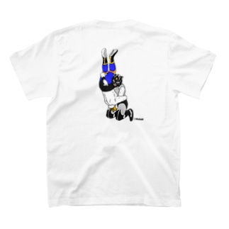 暗闇脳天落とし(バックプリント) T-shirts