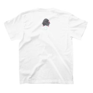 くろこ(黒っぽいヒヨコ)ふり向き グレー T-shirts