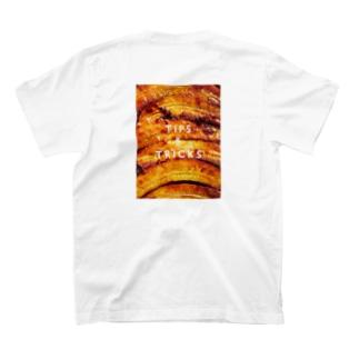 バナナアップサイドダウンケーキ<バックプリント> T-shirts