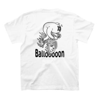 "nidan-illustrationの""Ballooooon"" #2 T-Shirtの裏面"