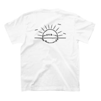 安全第一の日の出、IPPUKUの両面プリント T-shirts