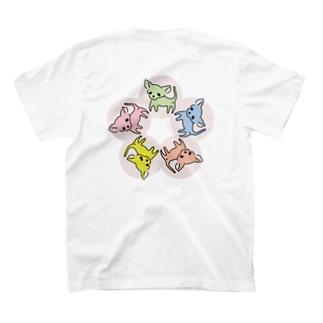 ゆるチワワ(フラワーサークル) T-shirts